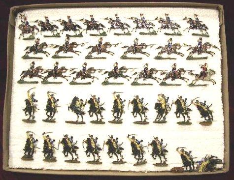 Caja de Soldados Planos de Plomo de Caballería, Principios Siglo XX